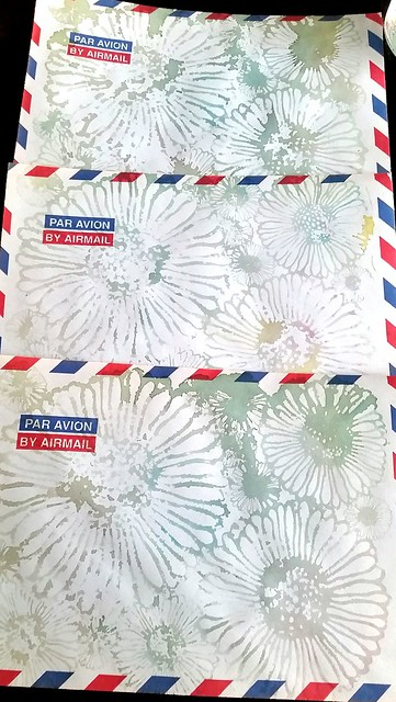 Mail art watercolor envelopes