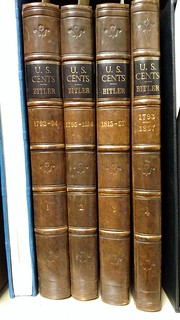 Bitler Large Cent volumes ANS Rare Book Room