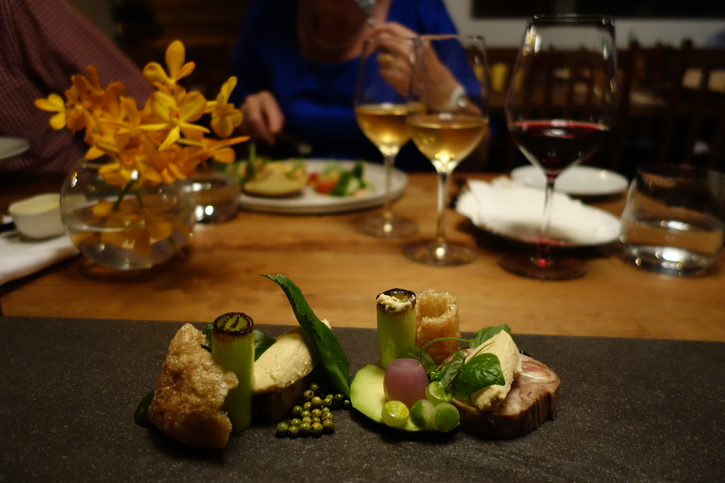 Tiger's Eye, Phnom Penh: Pork, Terrine, Kep Crab, Leek, Avocado, Pork Crackling