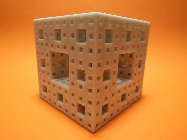 3D Printed Menger Sponge