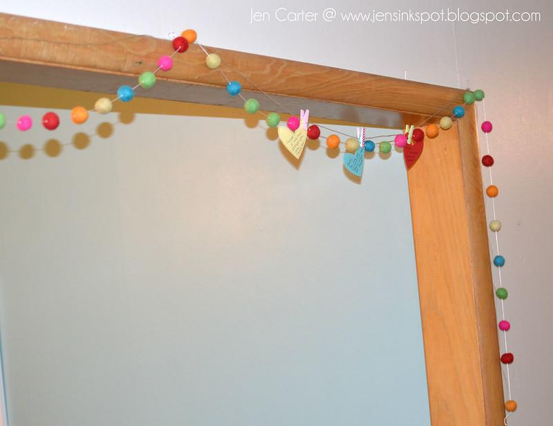 Jen Carter Heart Banner Hanging 1