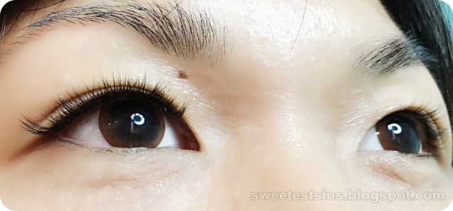 la belle eyelash extension before and after