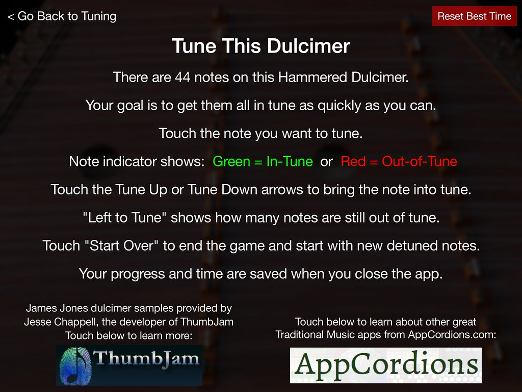 Tune This Dulcimer Instructions