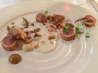 Thunfischgericht im Restaurant Rust en Vrede