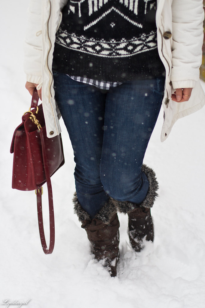 nordic sweater, denim, snow boots, white parka-4.jpg