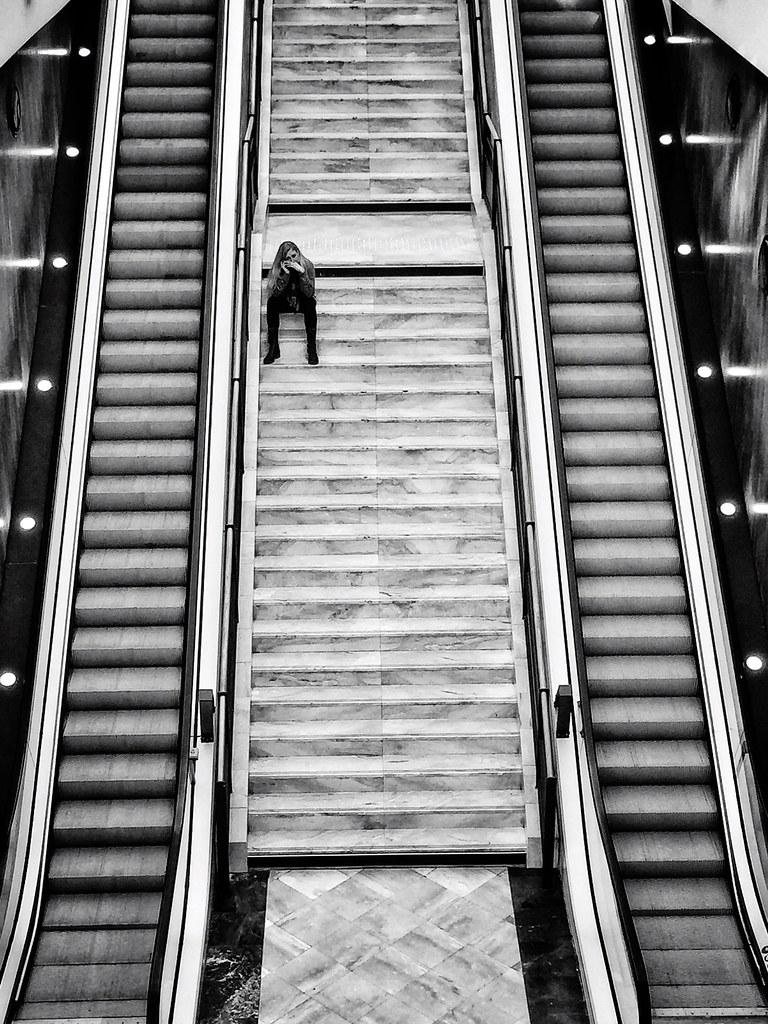 L'escalator solitaire