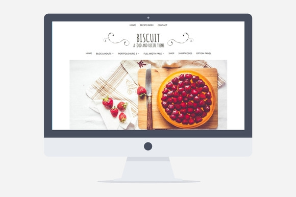 Creativemarket Biscuit v2.0.0 – Food WordPress Theme
