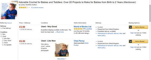 listing for baby crochet