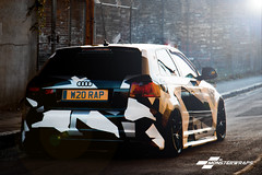 Camo Wrapped Audi A3 by Monsterwraps.co.uk