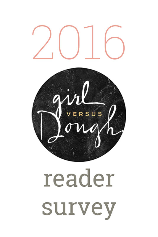 2016 Girl Versus Dough Reader Survey | girlversusdough.com @girlversusdough