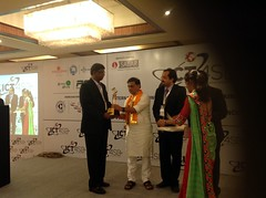 Getting award at ICT4SD2015