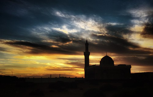 black yellow clouds sunrise uae mosque hdr
