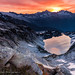 Under the Rising Sun - Hidden Lake Peak by Gabriela Fulcher Photography
