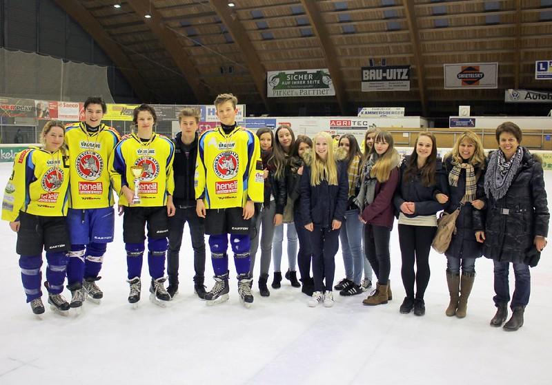 Gruppenfoto mit den Fans