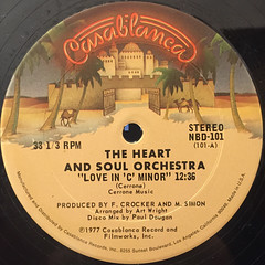 THE HEART AND SOUL ORCHESTRA:LOVE IN C MINOR(LABEL SIDE-A)