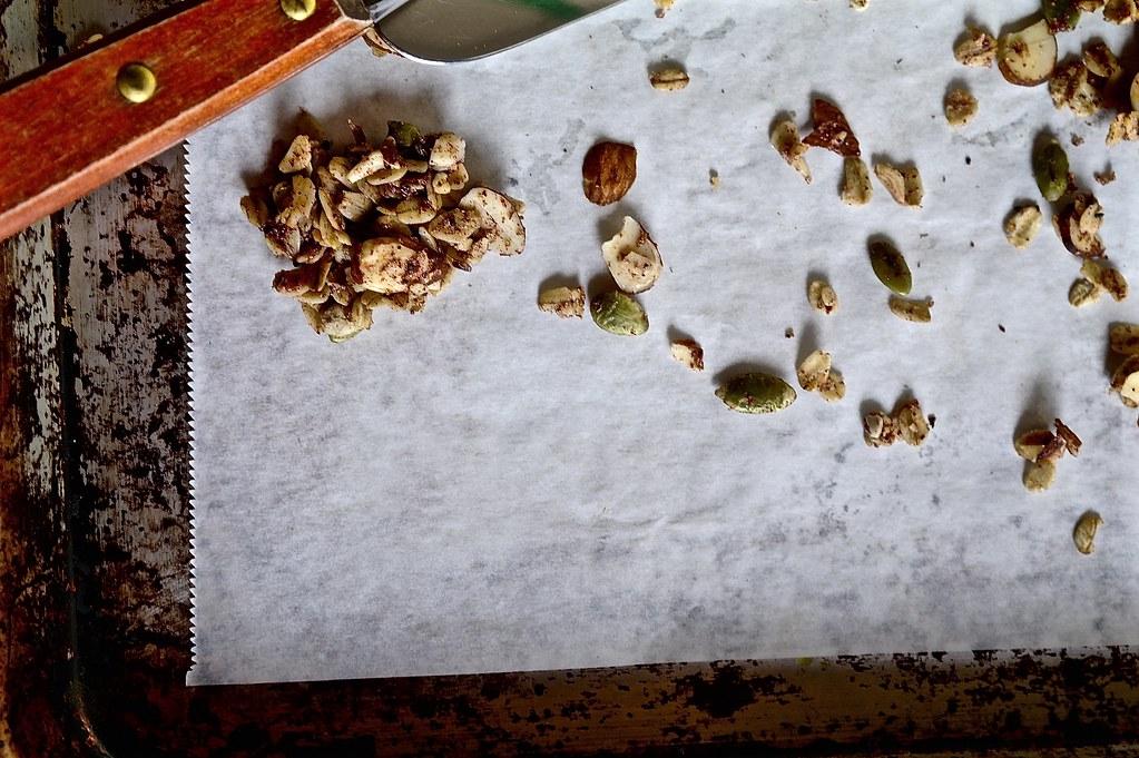 sumac rosemary and almond granola