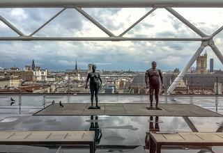 Image of Centre Georges Pompidou near Paris 04. paris france europe îledefrance exposition pompidou centrepompidou notredamedeparis beaubourg centregeorgespompidou notredamecathedral toits toursaintjacques ourladyofparis iphone6s iphone6splus madewithiphone6s 16avril2016 avril2016