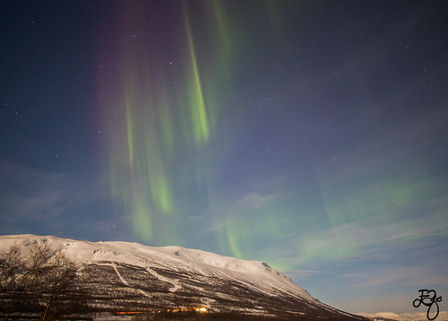 """A colourful night in Abisko"""