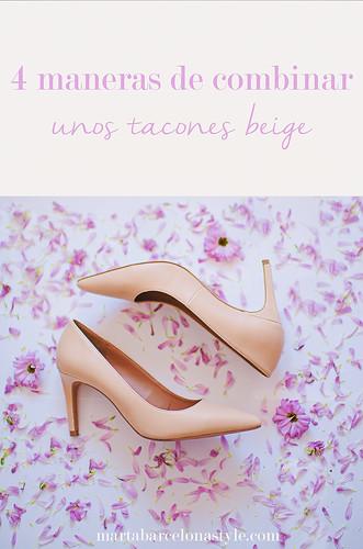 4 maneras de combinar unos zapatos de tacón beige