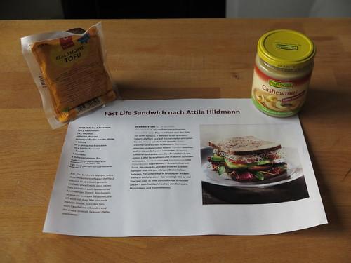 Geschenk Veganes Sandwich (Rezept Fast Life Sandwich + 2 Zutaten)