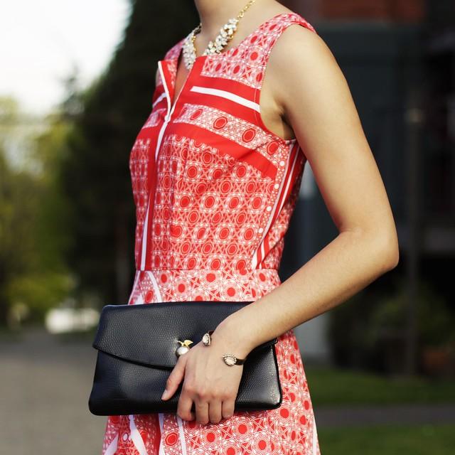 eshakti review, scarf print maxi dress
