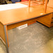 Teak straight desk 3 drawer