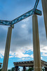 Pillars and dramatic sky