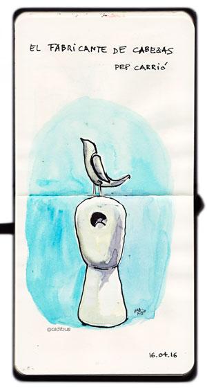 Cabeza y pájaro