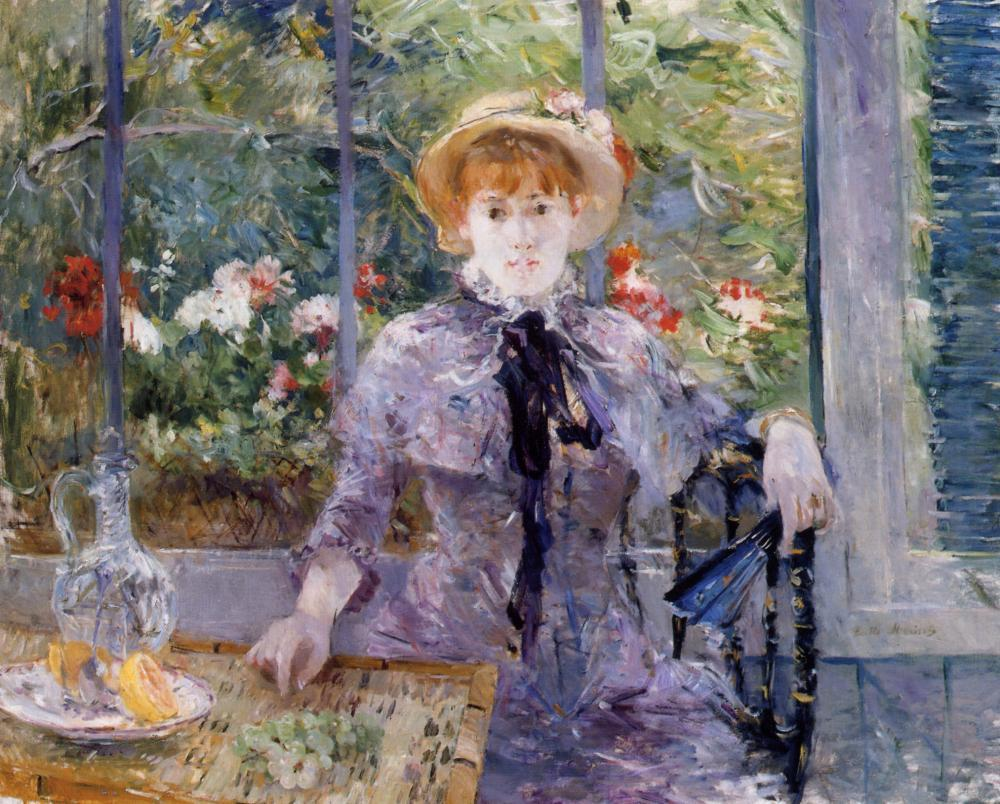 After Luncheon by Berthe Morisot, 1881