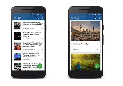 Liking Inoreader for Android