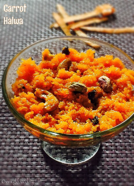 Carrot Halwa Recipe for Toddlers and Kids3