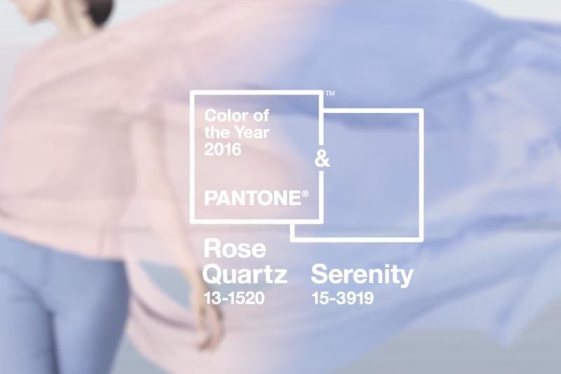 2016 Pantone Color of the year, rose quartz, serenity