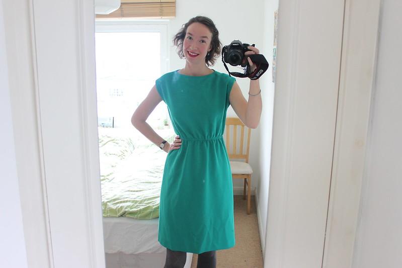 Green vintage dress