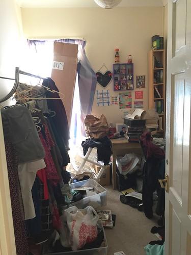 The de-cluttering begins - office