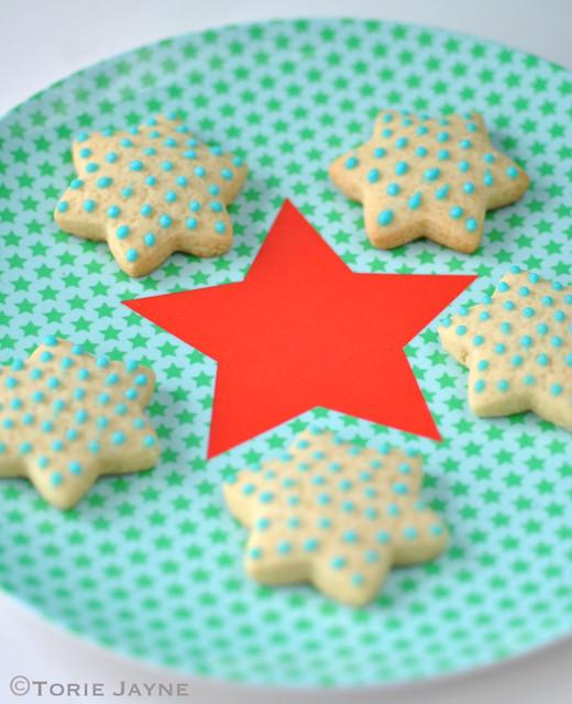 Green star melamine plate