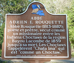 Photo of Abbé Rouquette brown plaque