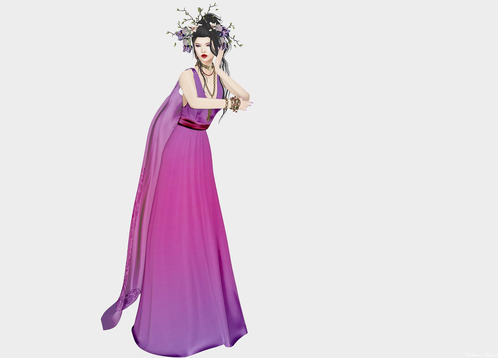 AMARELO MANGA - Mel Long Gown