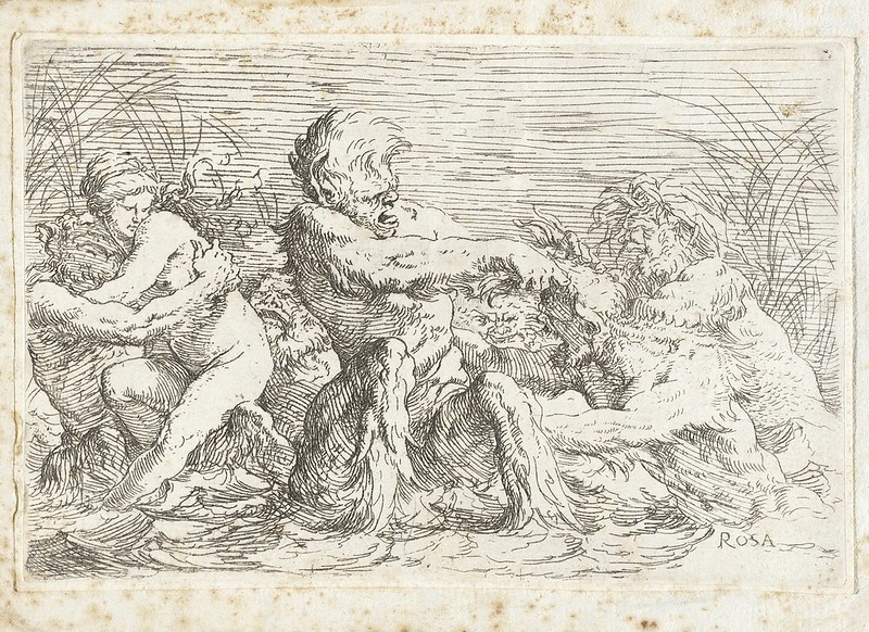 Salvator Rosa - Battling Tritons, 1660-61