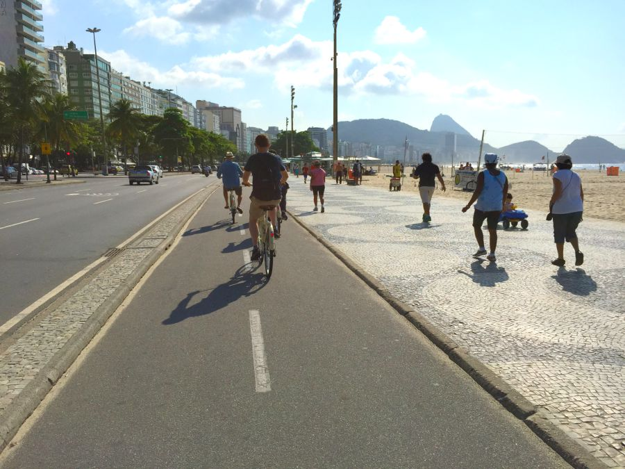 Bike path along the beach