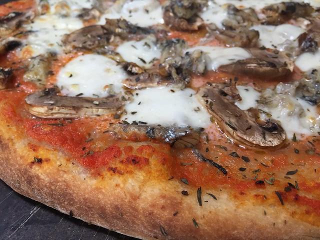 Sardine/Mushroom Pizza