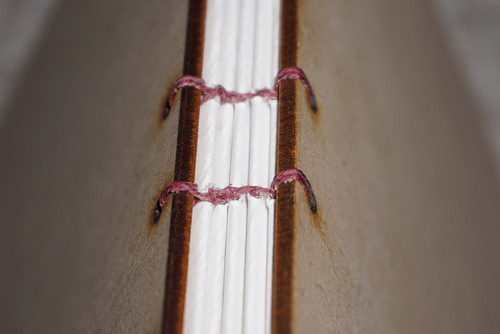Detail of coptic bookbinding