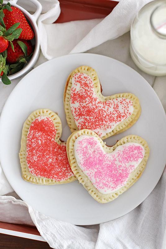 Heart-Shaped Strawberry Pop Tarts   girlversusdough.com @girlversusdough
