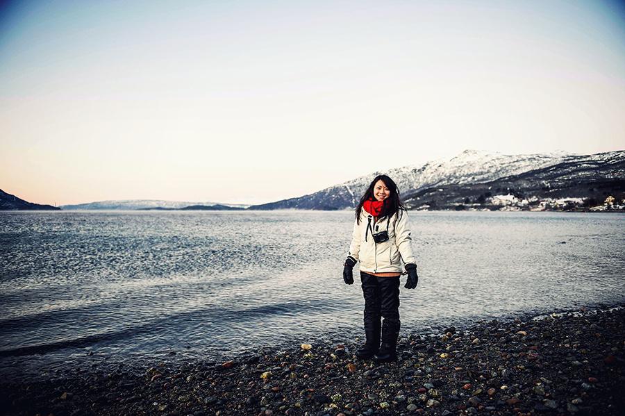 2016.02.23▐ 看我歐行腿 ▐ 阿呀~一不小心就從瑞典到了挪威, Narvik 小鎮遇見地理課本中的峽灣 02.jpg