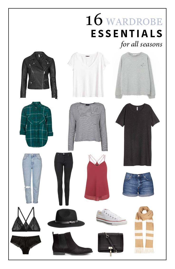 16 wardrobe essentials for every season