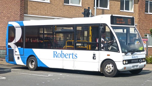 MX57 UPD Roberts Coaches Optare Solo.