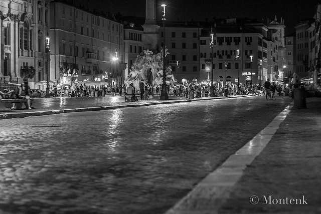 Piazza Navona at night, Rome, Italy (2014)