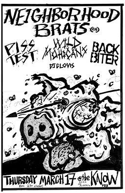 3/17/16 NeighborhoodBrats/PissTest/WildMohicans/BackBiter/DJClovis