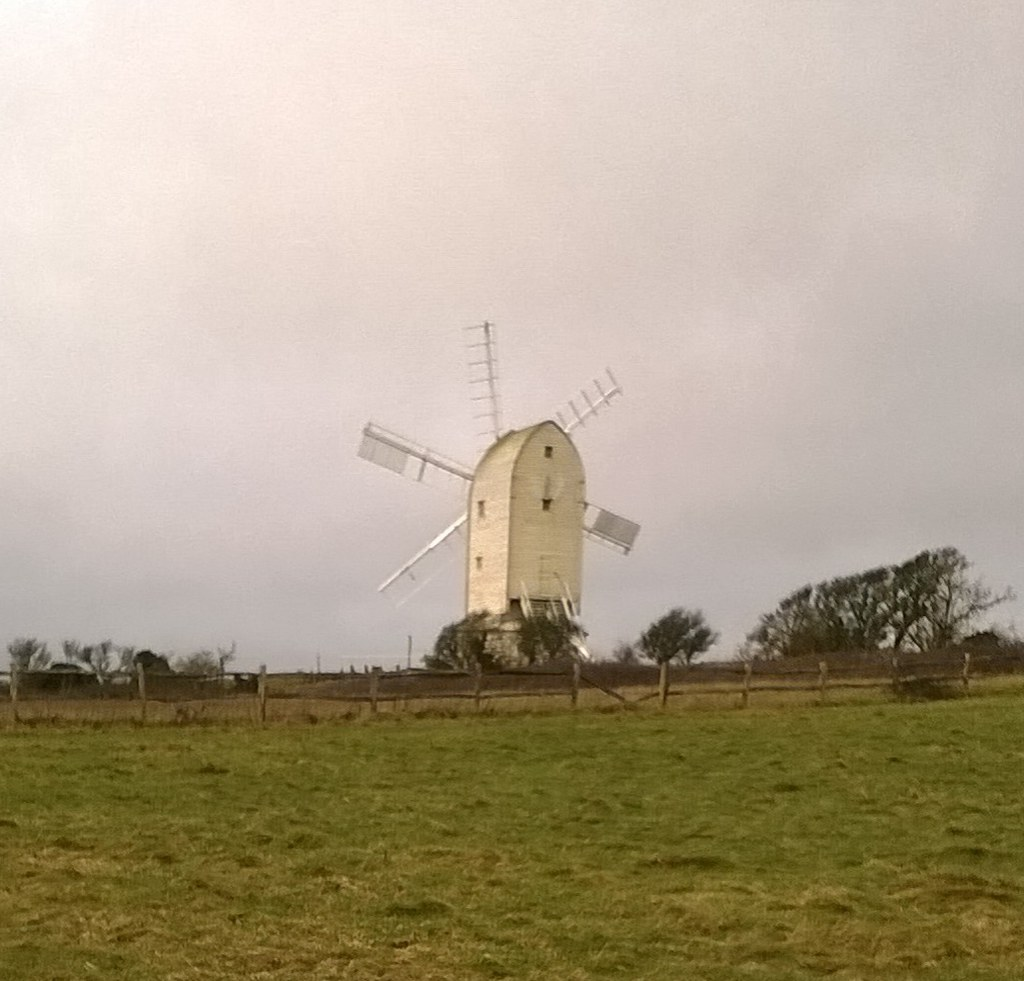New year, new sails, FIVE count 'em! (Wind) Mill near Kingston, South Downs