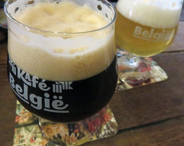 Beers at the Café Belgie Pub in Utrecht, Holland