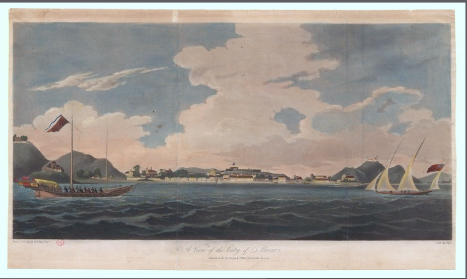 Vista da cidade de Macau, T.S. Parry. 1790